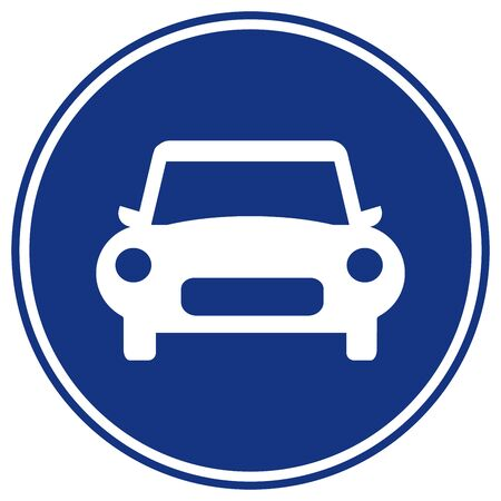 Way Of Car Traffic Road Signs, Vector Illustration, Isolate On White Background Label. EPS10