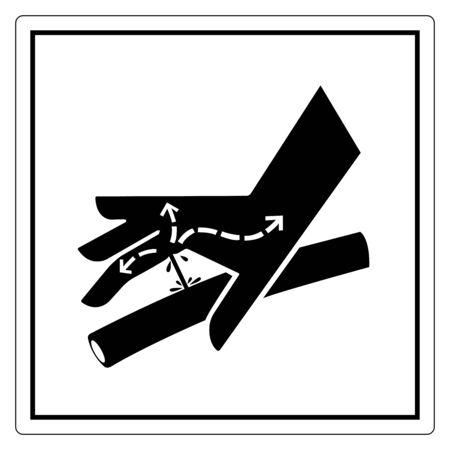 Signe de symbole de ligne hydraulique de perforation de peau, illustration vectorielle, isoler sur l'étiquette de fond blanc .EPS10