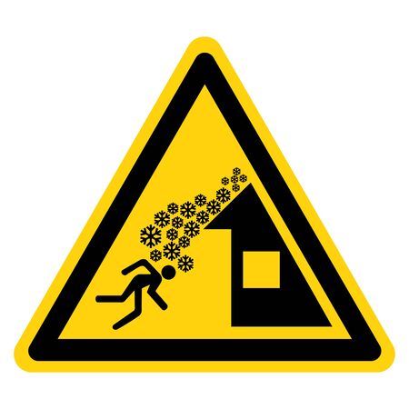 Warning Roof Avalanche Can Occur Symbol, Vector Illustration, Isolate On White Background Label.