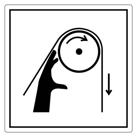 Hand Entanglement Rollers Symbol Sign, Vector Illustration, Isolate On White Background Label .EPS10  Ilustracja
