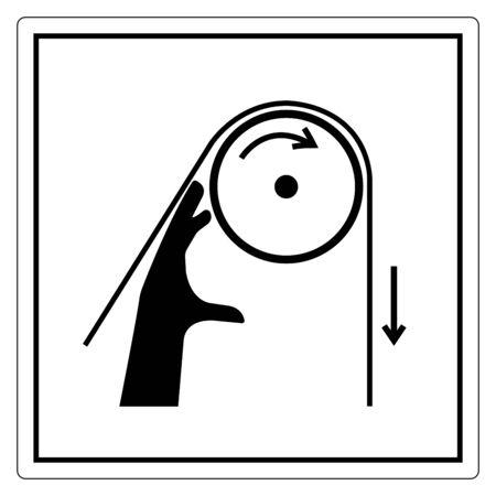Hand Entanglement Rollers Symbol Sign, Vector Illustration, Isolate On White Background Label .EPS10  Illustration