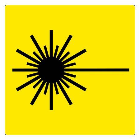 Warning Laser Symbol Sign ,Vector Illustration, Isolate On White Background Label. EPS10