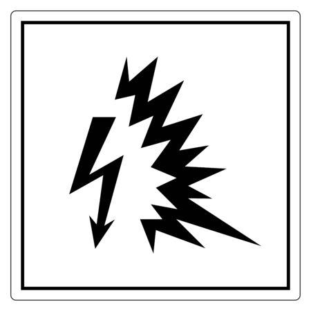 Arc Flash Symbol Sign, Vector Illustration, Isolate On White Background Label .EPS10