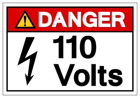 Danger 1 Volts Symbol Sign, Vector Illustration, Isolate On White Background Label .