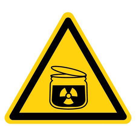 Beware Radiation Symbol Sign ,Vector Illustration, Isolate On White Background Label.