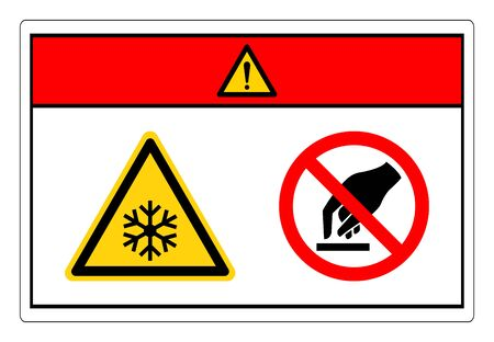 Danger Extremely Cold Surface Do Not Touch Symbol Sign, Vector Illustration, Isolate On White Background Label. 일러스트