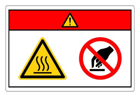 Danger Hot Surface Do Not Touch Symbol Sign, Vector Illustration, Isolate On White Background Label. Stock Illustratie