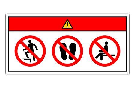 Danger Do Not Step Symbol Sign, Vector Illustration, Isolate On White Background Label. Vektoros illusztráció