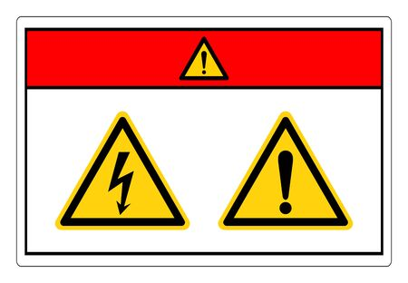 Danger Electric Shock Hazard Symbol Sign, Vector Illustration, Isolate On White Background Label.