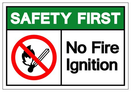 Warning No Fire Ignition Symbol Sign, Vector Illustration, Isolate On White Background Label