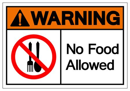 No Food Allowed Symbol Sign, Vector Illustration, Isolate On White Background Label