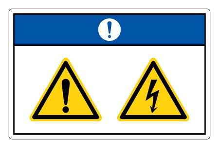 Notice Electric Shock Hazard Symbol Sign, Vector Illustration, Isolate On White Background Label.