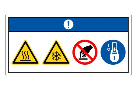 Notice Hot or Cold Surface Symbol Sign, Vector Illustration, Isolate On White Background Label. Stock Illustratie