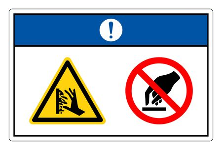 Notice Hot Surface Do Not Touch Symbol Sign, Vector Illustration, Isolate On White Background Label.