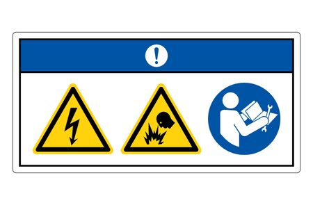 Notice Electric Shock Hazard Symbol Sign, Vector Illustration, Isolate On White Background Label.
