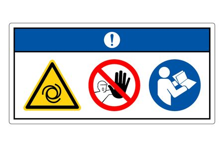 Notice Equipment Starts Automatically Symbol Sign, Vector Illustration, Isolate On White Background Label. Stock Illustratie