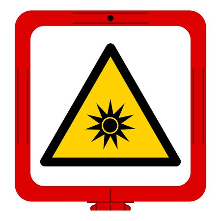 Beware Optical Radiation Symbol ,Vector Illustration, Isolate On White Background Label. EPS10 向量圖像