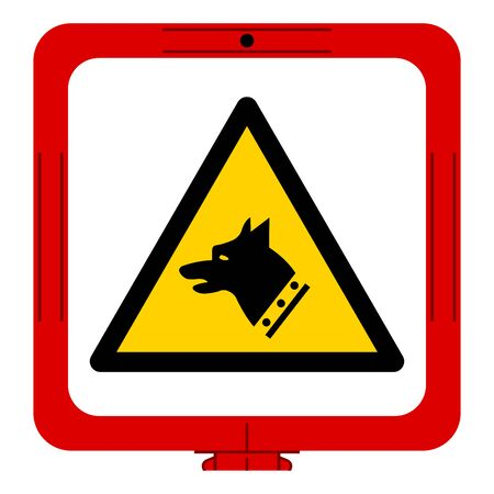 Warning Gauge Dog Symbol Sign, Vector Illustration, Isolate On White Background Label. EPS10 Vettoriali