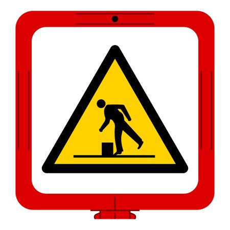 Warning Obstacles Symbol, Vector Illustration, Isolate White Background Label. EPS10