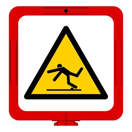Warning Trip Hazard Symbol, Vector Illustration, Isolate White Background Label. EPS10