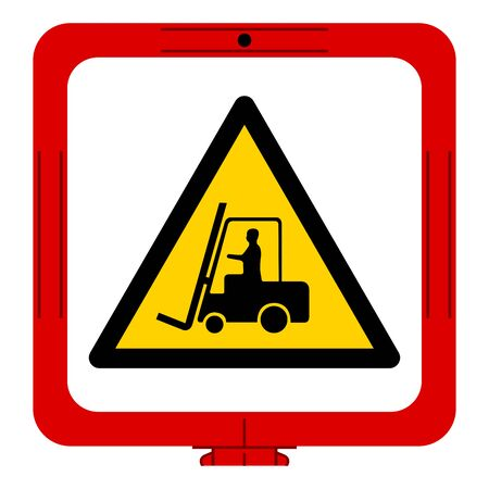 Warning Forklift Symbol Sign,Vector Illustration, Isolate On White Background Label. EPS10