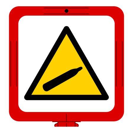 Danger Pressure Gas Symbol Sign, Vector Illustration, Isolate On White Background, Label Sticker,Label. EPS10 Çizim