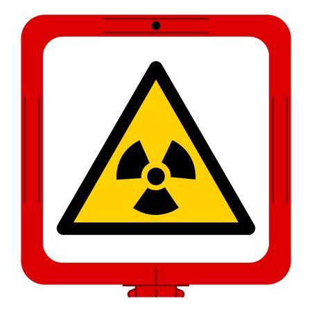 Warning Radiation Hazard Symbol Sign,Vector Illustration, Isolated On White Background Label. EPS10 Illustration