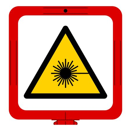 Warning Laser Beam Symbol,Vector Illustration, Isolate On White Background Label. EPS10