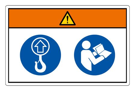 Warning Lift Point Symbol Sign, Vector Illustration, Isolate On White Background Label. EPS10