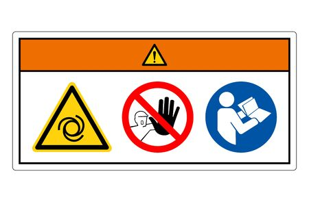 Warning Equipment Starts Automatically Symbol Sign, Vector Illustration, Isolate On White Background Label. EPS10 Stock Illustratie