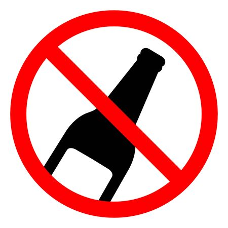 No Alcohol Symbol Sign, Vector Illustration, Isolate On White Background Label .EPS10