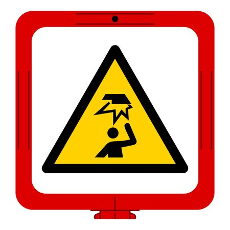 Warning Overhead Obstacles Symbol ,Vector Illustration, Isolate On White Background Label. EPS10