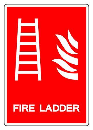 Fire Ladder Symbol Sign, Vector Illustration, Isolate On White Background Label.