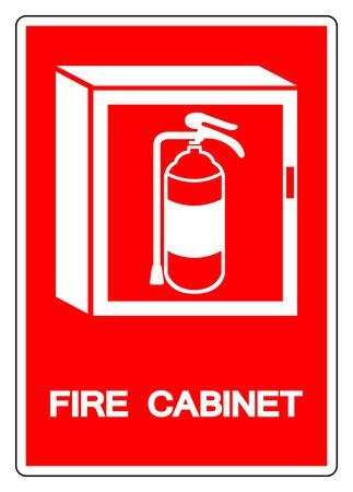Fire Cabinet Symbol Sign ,Vector Illustration, Isolate On White Background Label