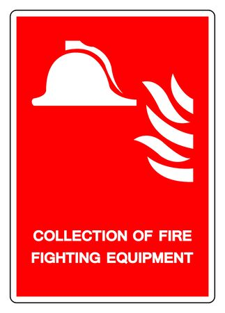 Collection Of Fire Fighting Equipment Symbol Sign, Vector Illustration, Isolate On White Background Label. EPS10