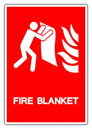 Fire Blanket Symbol Sign, Vector Illustration, Isolate On White Background Label. EPS10