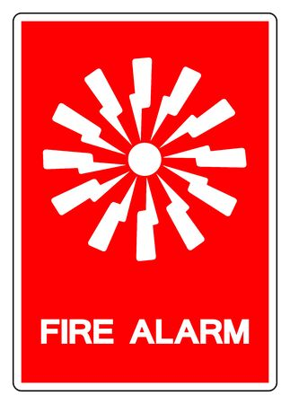 Fire Alarm Symbol Sign, Vector Illustration, Isolate On White Background Label. EPS10