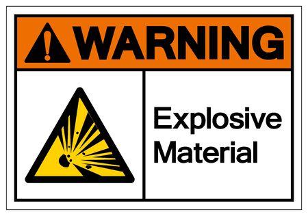 Warning Explosive Material Symbol, Vector Illustration, Isolate White On Background Label. 向量圖像