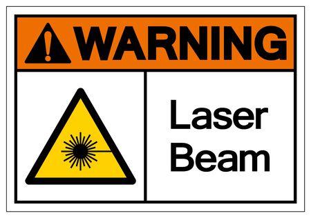 Warning Laser Beam Symbol,Vector Illustration, Isolate On White Background Label.