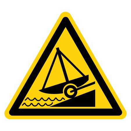Caution Slipway Symbol, Vector  Illustration, Isolated On White Background Label. EPS10