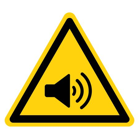 Warning Sound Area Sign,Vector Illustration, Isolate On White Background Label