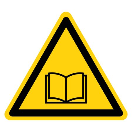 Warning No Read A Book Sign,Vector Illustration, Isolate On White Background Label.