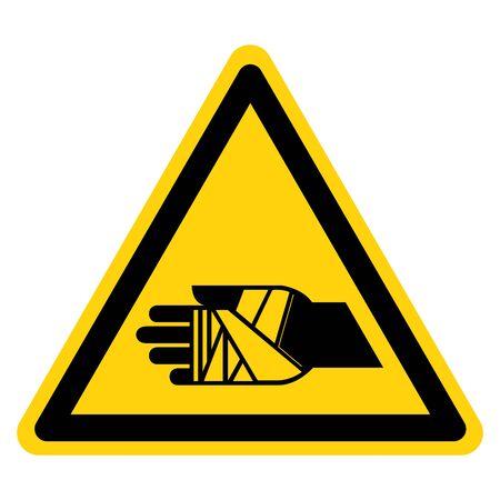 Warning Chemical Burns Hazard Symbol Sign ,Vector Illustration, Isolate On White Background Label. EPS10 向量圖像