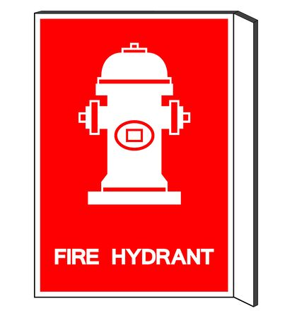Fire Hydrant Symbol Sign, Vector Illustration, Isolate On White Background Label. 矢量图像