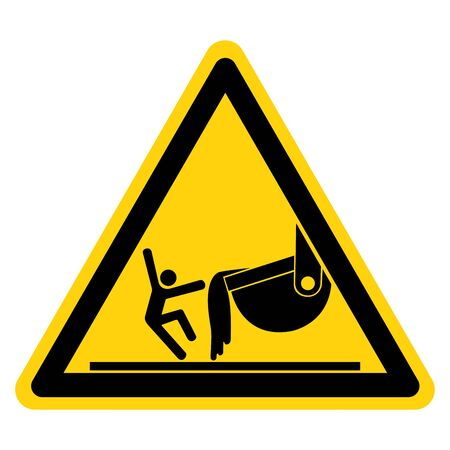 Warning Contact with Molten Material Symbol Sign ,Vector Illustration, Isolate On White Background Label.
