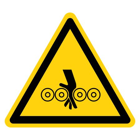 Warning Crush Hazard Symbol Sign ,Vector Illustration, Isolate On White Background Label.