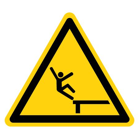 Warning Fall From Heights Symbol Sign ,Vector Illustration, Isolate On White Background Label. 向量圖像