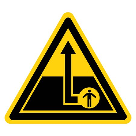 Warning Confined Space Symbol Sign, Vector Illustration, Isolate On White Background Label.