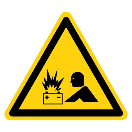 Warning Battery Flash ARC Hazard  Symbol Sign ,Vector Illustration, Isolate On White Background Label.