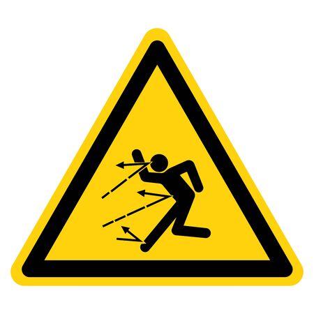 Warning Danger Of Material Spattering Symbol Sign ,Vector Illustration, Isolate On White Background Label.
